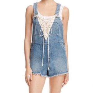 Lace Up Jean Overalls